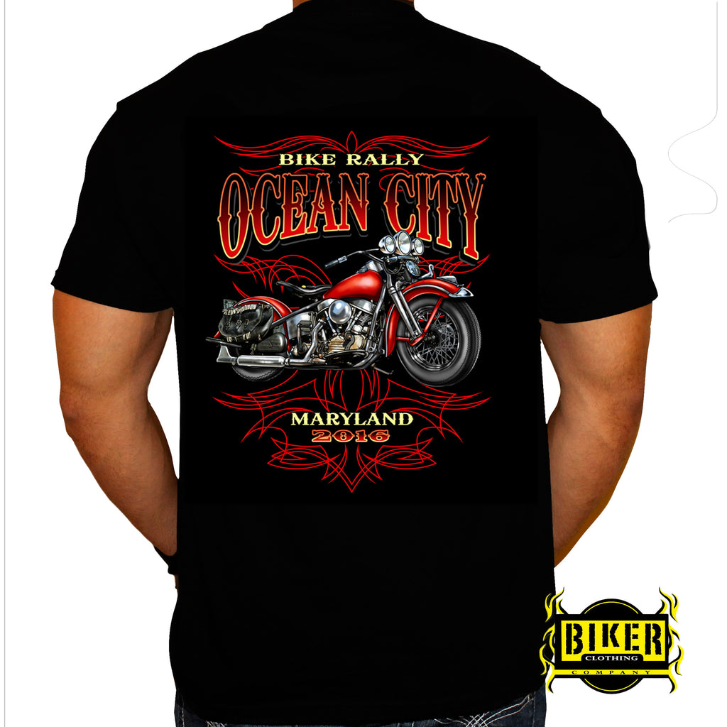 2016 Ocean City, Maryland Red Bike, Short Sleeve