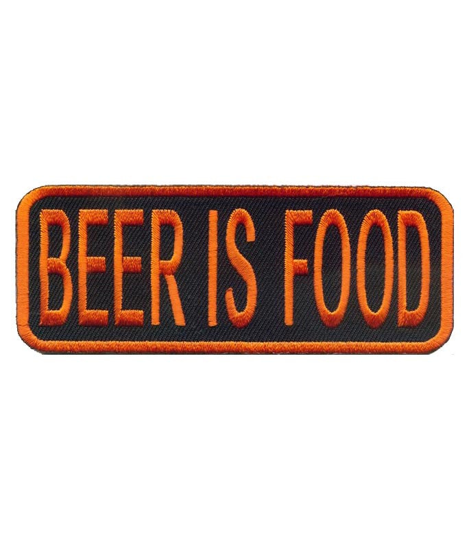 Beer is Food orange