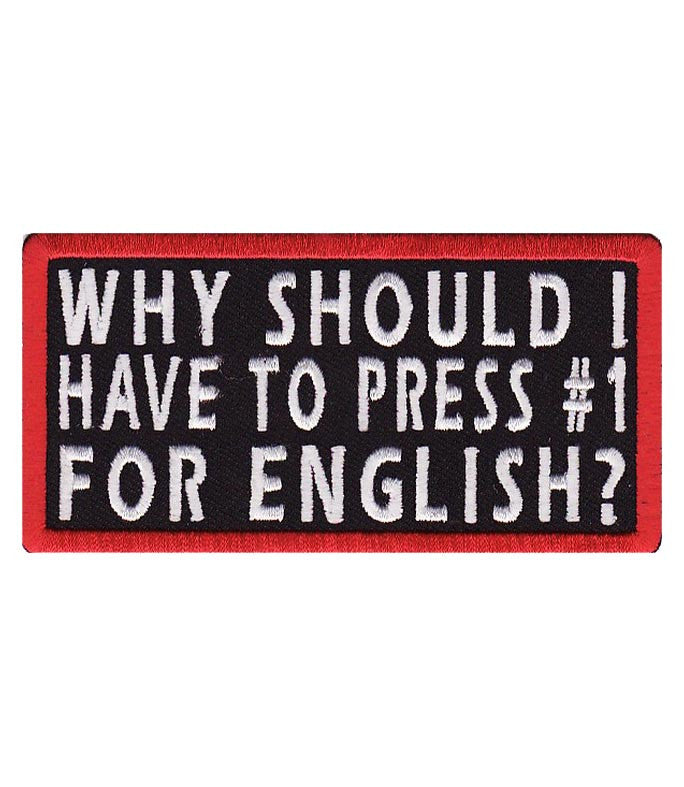 why should i press 1 english