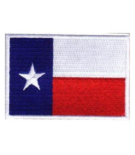 texas state flag white border