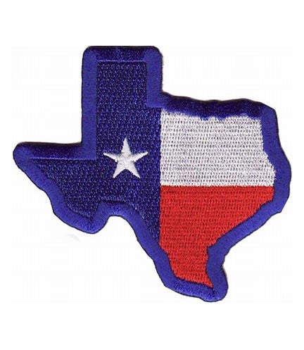 texas map state flag blue border
