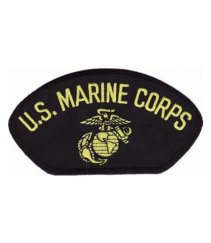 hat patch us marine corps black