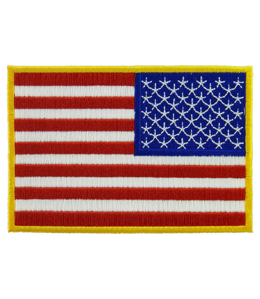 us flag reversed yellow border