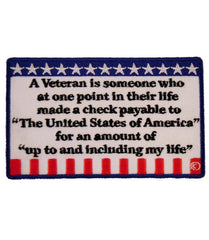 A Veteran is Someone Who Us Flag