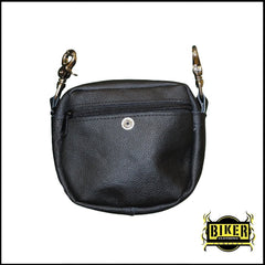 Cow Leather Scoop Front Bag