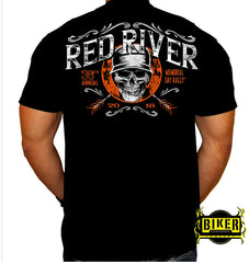 2018 Red River Helmet Skull T-shirt