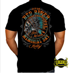 2018 Red River Indian Skull T-shirt