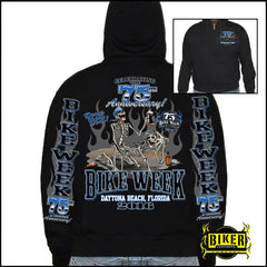 Official 2016 Daytona Beach Bike Week 75th Anniversary  Hoodie
