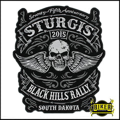 2015 Sturgis Black Hills Rally Traditional Skull Wing-Small