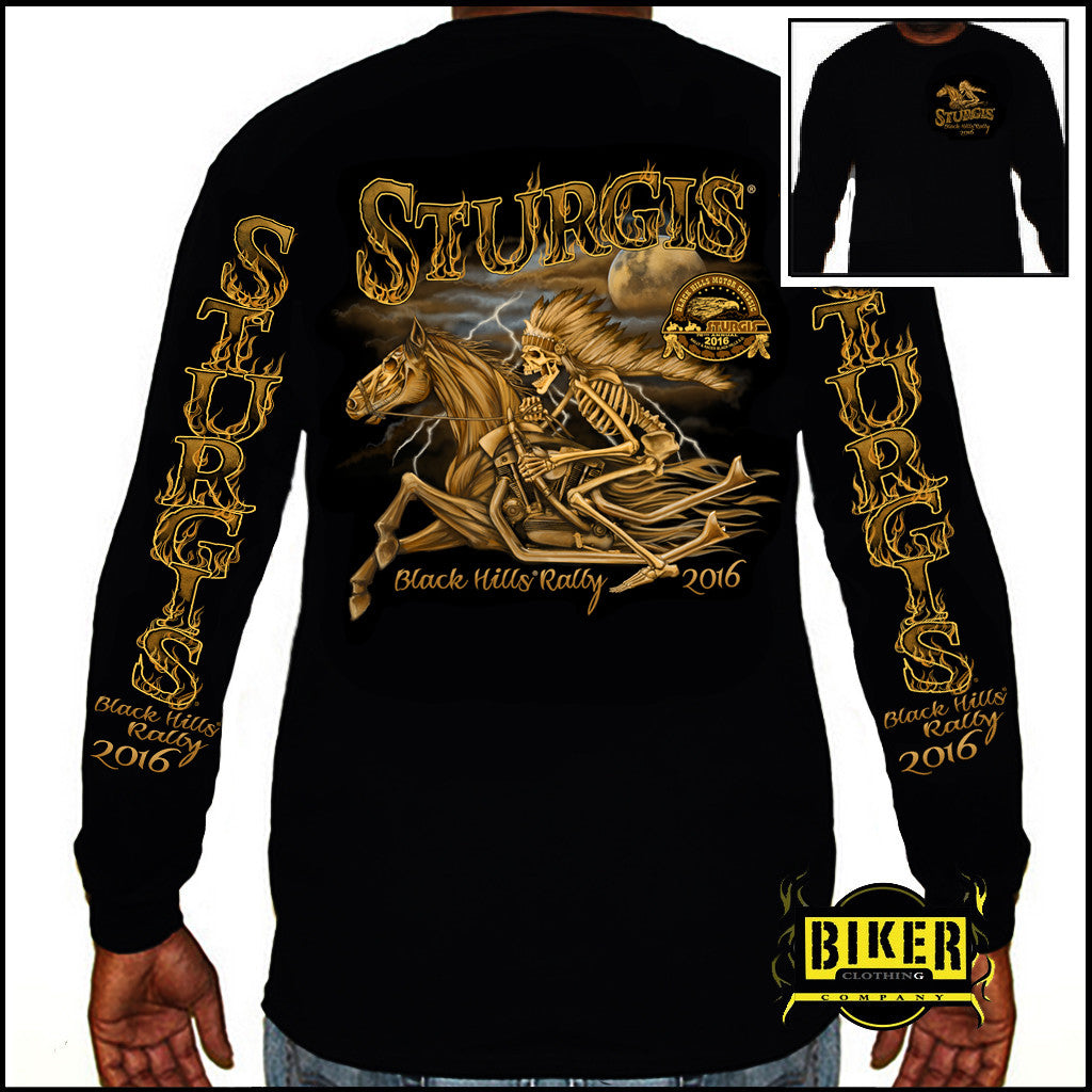 2016 Official Sturgis Skeleton Rider, Long Sleeve