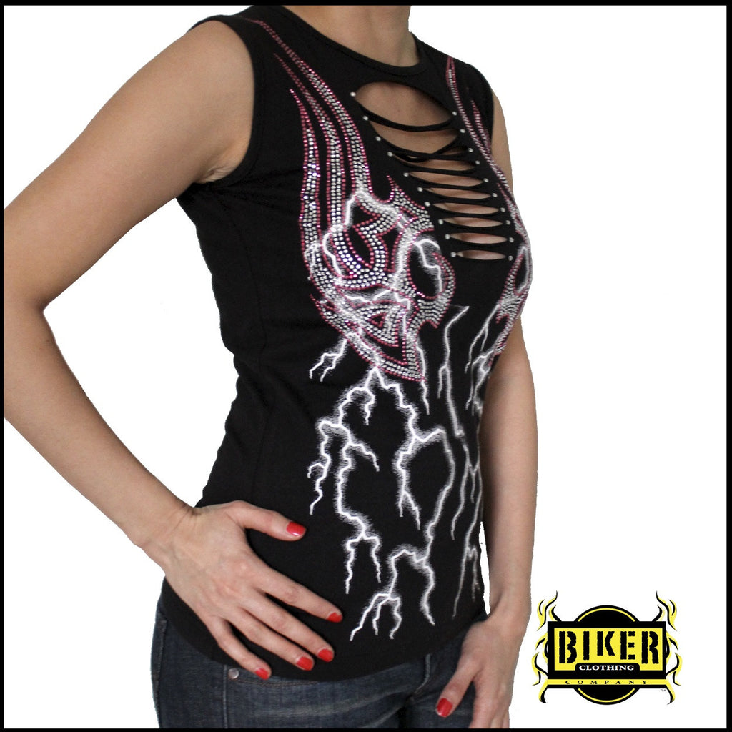 Electric Pink Storm Fashion Top