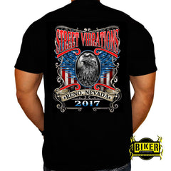 Official 2017 Reno Street Vibrations American Eagle T-shirt