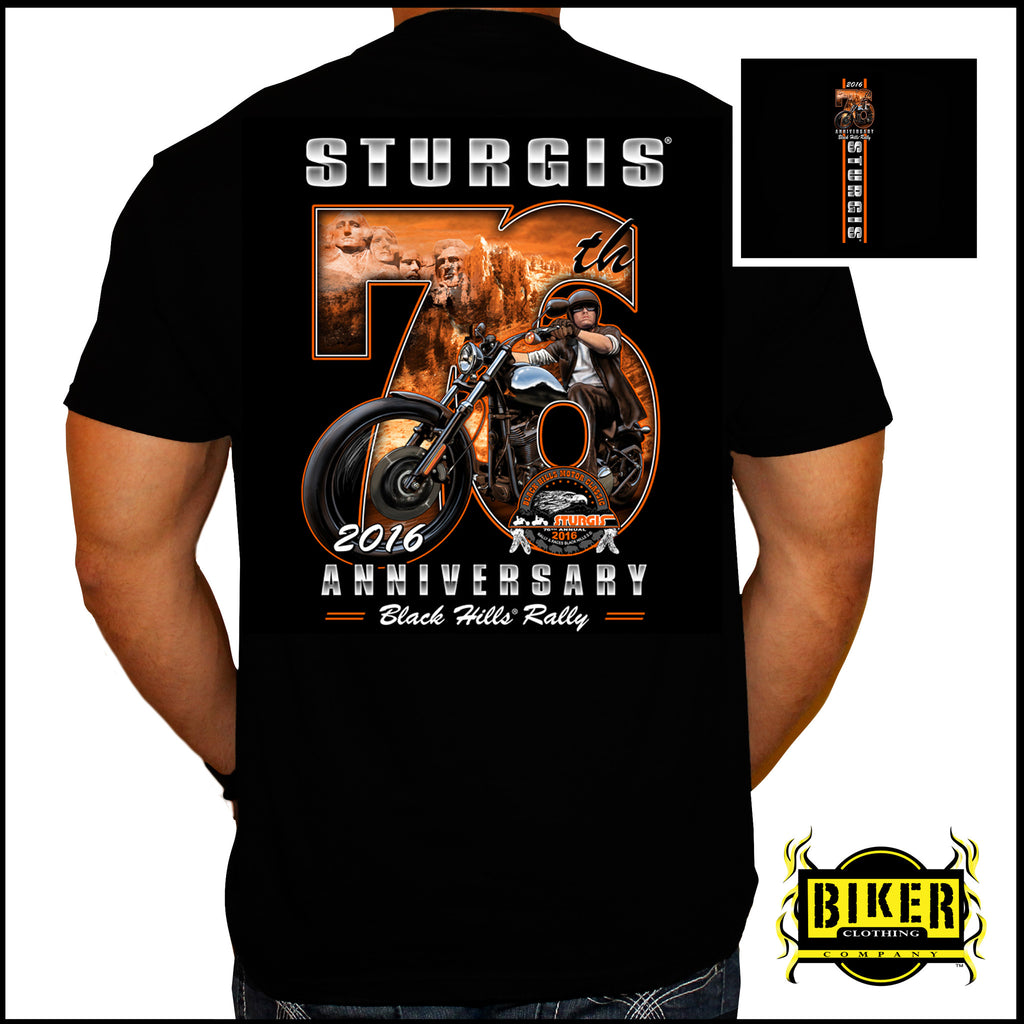 2016 OFFICIAL STURGIS BIG 76TH, T- SHIRT.