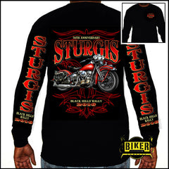 2016 Official Sturgis New Red Bike, Long Sleeve