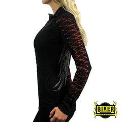 Long Sleeve Angel Wing with Ribbons