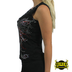 Big Roses Chain Tank Top
