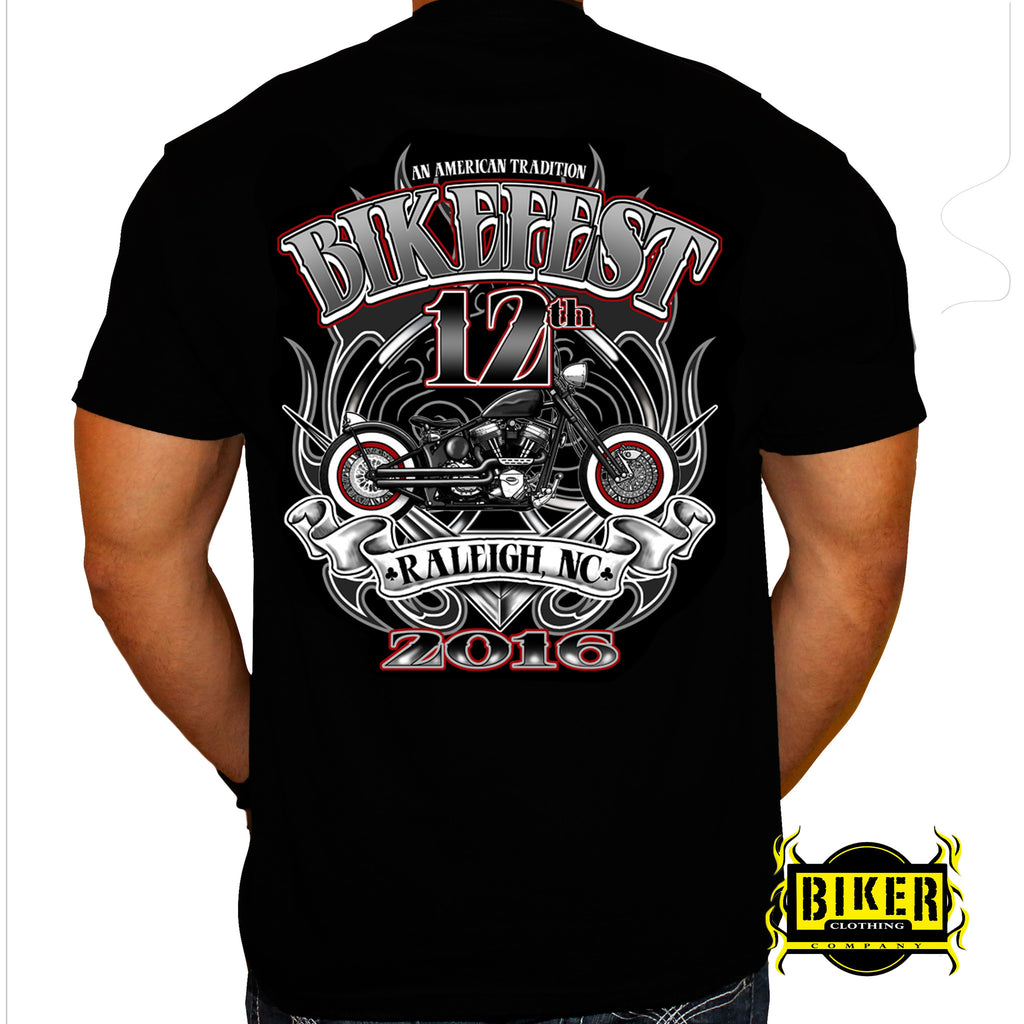 2016 Official Capital City Bikefest Retro Bike, T-Shirt
