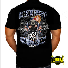2016 Official Capital City Bikefest Skeleton Rider, T-Shirt