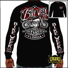 Official 2018 Daytona Beach Bike Week New Bike Long Sleeve