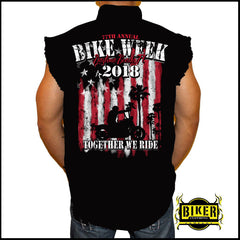 Official 2018 Daytona Beach Bike Week Together We Ride Sleeveless Denim