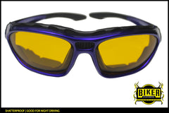 Foam Padded Yellow Lens Sunglasses