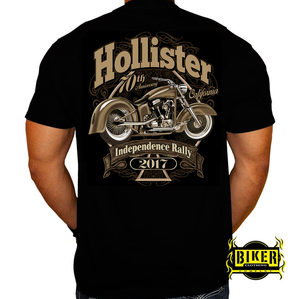 Official 2017 Hollister Brown Bike T-shirt
