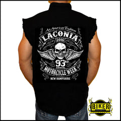 OFFICIAL LACONIA 2016 AMERICAN HERITAGE, SLEEVELESS DENIM