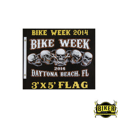 2014 Daytona Beach Bike Week - 5 Skull Chain Flag