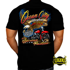 2017 Ocean City Flaming Eagle T-shirt