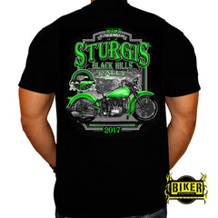 Official 2017 Sturgis Green Bike T-shirt