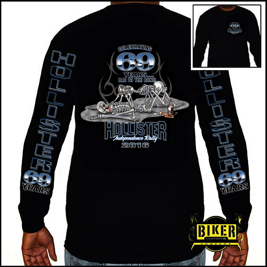 2016 OFFICIAL HOLLISTER 69TH ANNIVERSARY BONES LONG SLEEVE