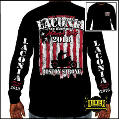2018 Laconia Together We Ride - Boston Strong Long Sleeve T-shirt