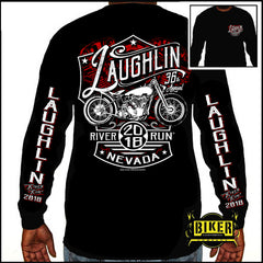Official 2018 Laughlin River Run New Red Bike, Long Sleeve