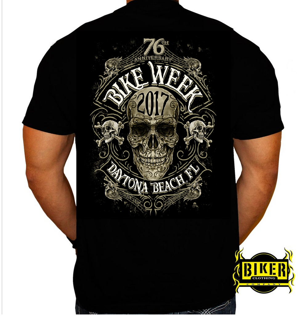 2017 Official Bike Week New Skull T-Shirt