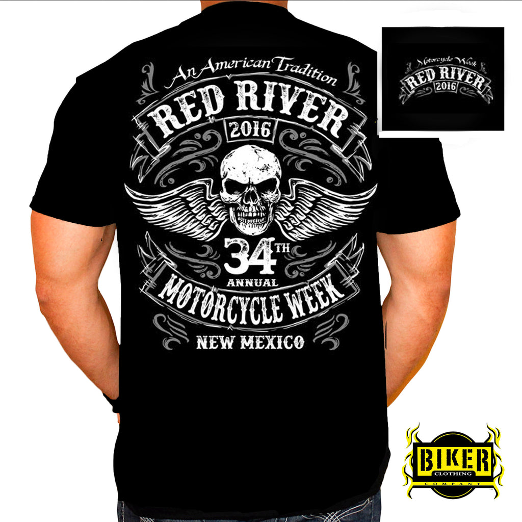 2016 RED RIVER WING SKULL T-SHIRT