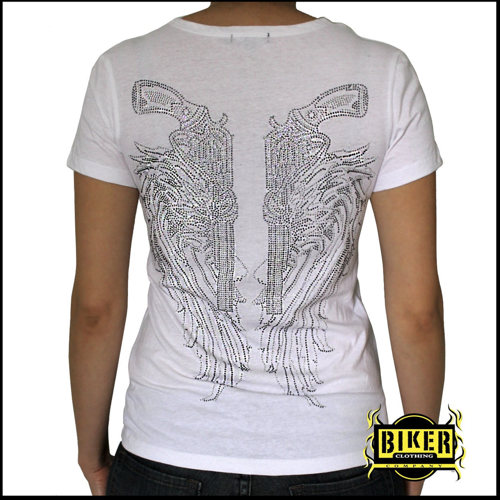 Slashed Angle Wings Ladies Fashion Top