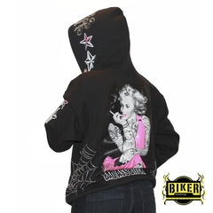 Marilyn Wicked Bad Ass Bitch  Hooded Sweatshirt