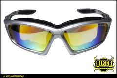Biker Design Multi Colored Lens Sunglasses
