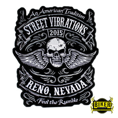 2015 Reno Street Vibrations Traditional Skull Wing Patch-Large