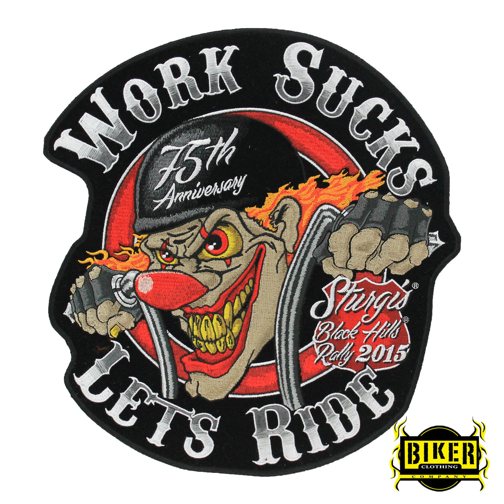 2015 Sturgis Black Hills Rally Work Sucks Patch-Large