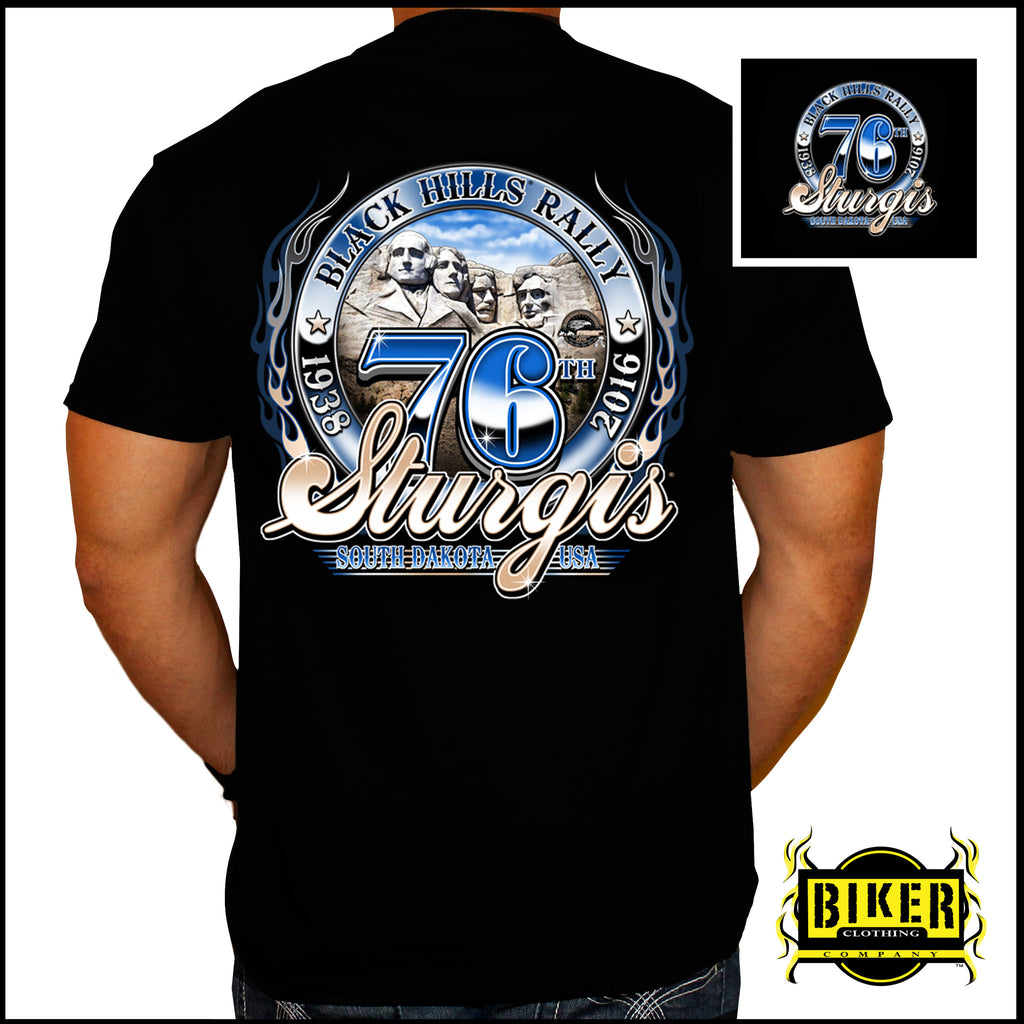 2016 OFFICIAL STURGIS RUSHMORE, T- SHIRT.