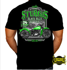 2018 STURGIS MOTORCYCLE RALLY GREEN BIKE