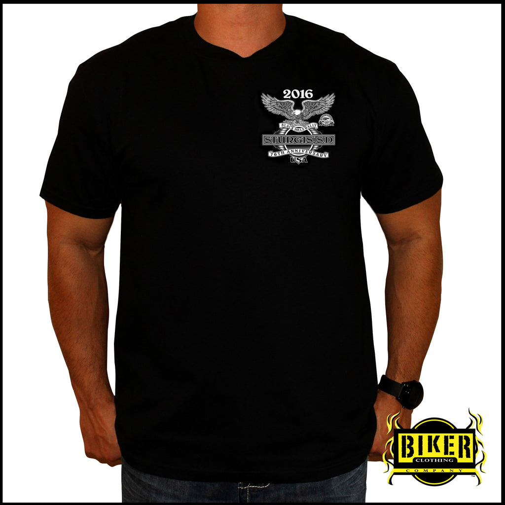2016 OFFICIAL STURGIS CLASSIC BIKER TRADITION, T-SHIRT.