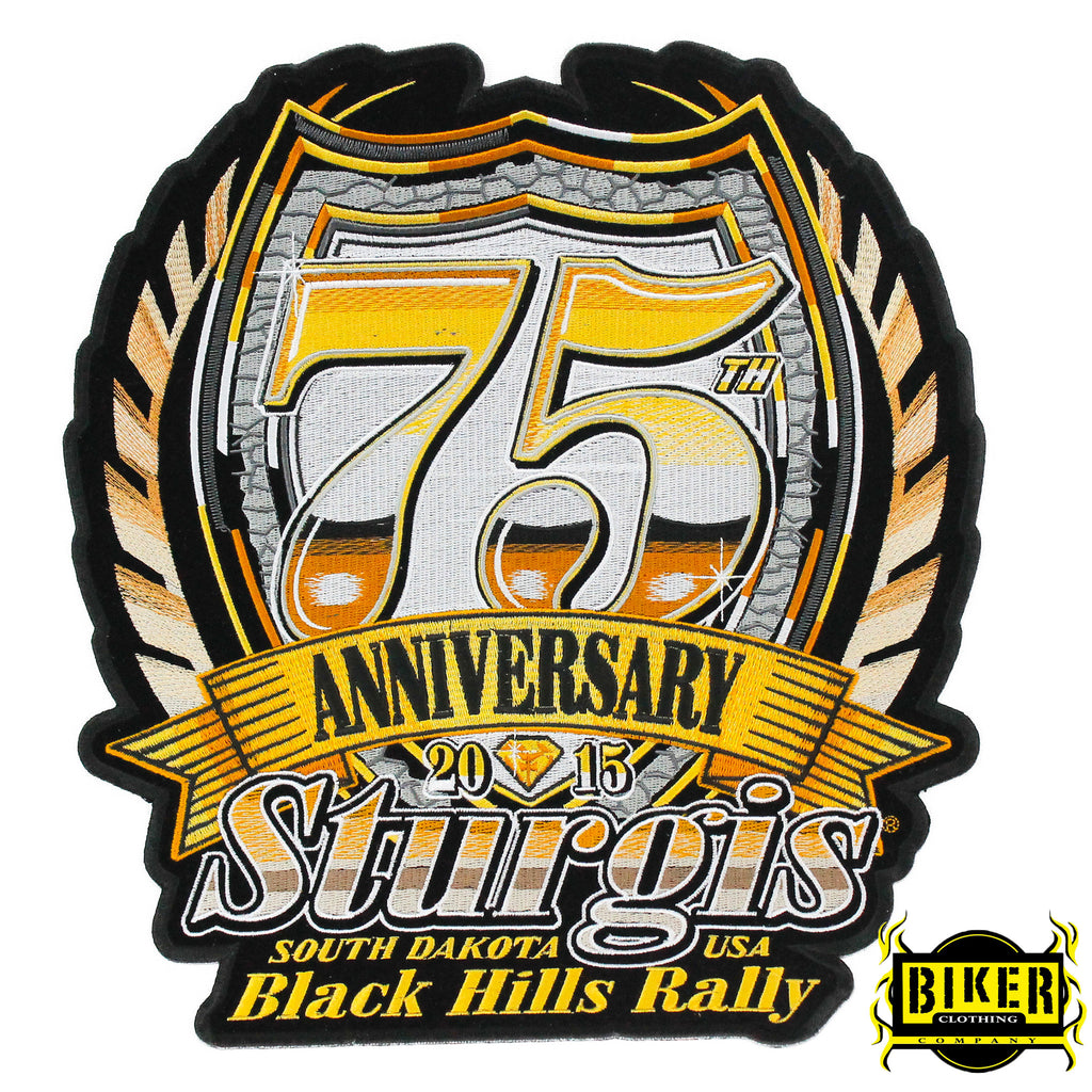 2015 Sturgis Black Hills Rally 75th Anniversary Patch-Large