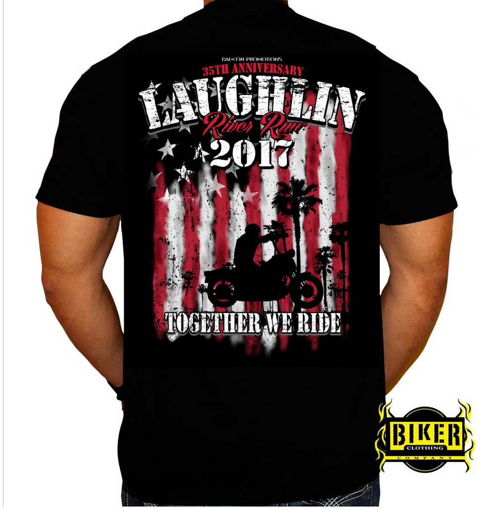 Official 2017 Laughlin River Run Together we Ride T-shirt