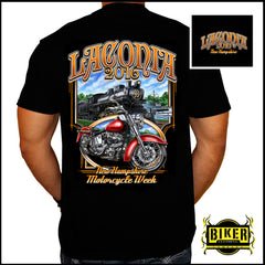 2016 Laconia Motorcycle Rally Weirs Beach Train T-Shirt
