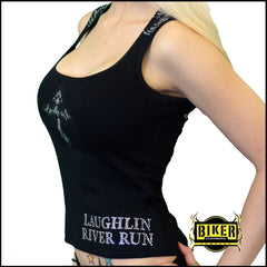 2015 Laughlin River Run Silver Cross Black Lady Fashion Top