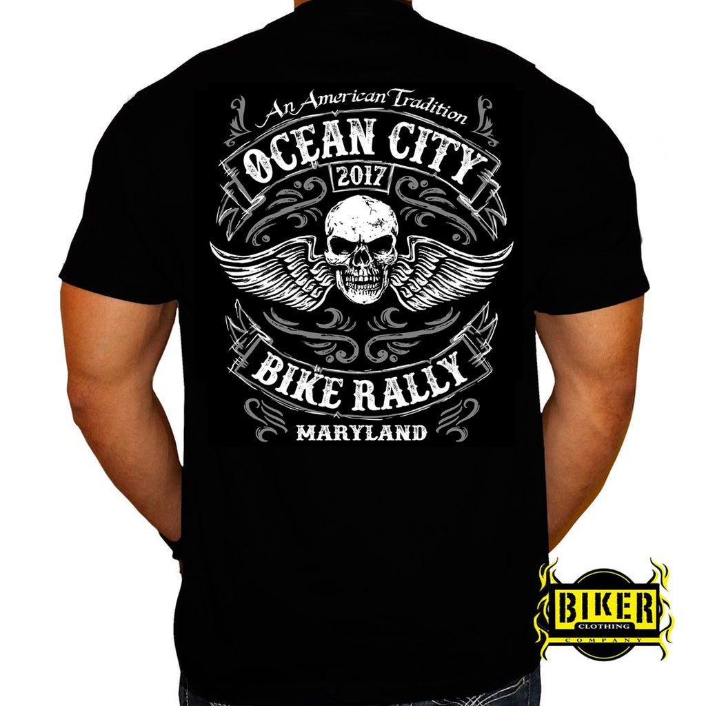 2017 Ocean City Winged Skull T-shirt