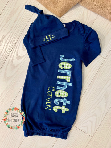 Baby Boy gown, Boy coming home outfit