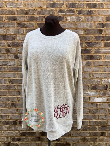 Poodle Fleece Monogrammed Sweater